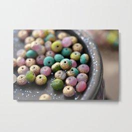 Fruit Tingle Coloured Beads Metal Print