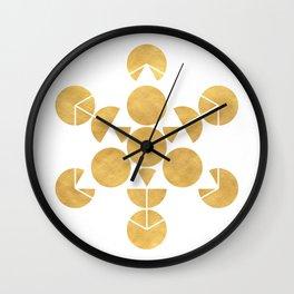 ICOSAHEDRON FRUIT OF LIFE minimal sacred geometry Wall Clock