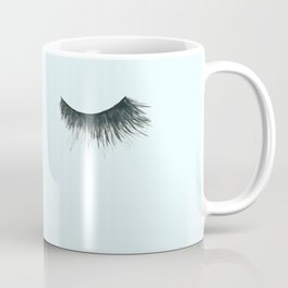 Dramatic dreaming in blue  \\ lashes, closed eyes, sleeping design for bedroom Coffee Mug
