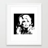 dolly parton Framed Art Prints featuring Dolly by Becky Rosen