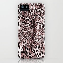 Luxury leopard Print iPhone Case