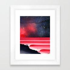 Blood Aurora Framed Art Print