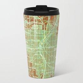 12-Denver Colorado 1958, America cities maps Travel Mug