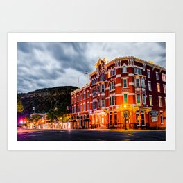 Historic Downtown Durango Colorado Along Main Avenue Art Print