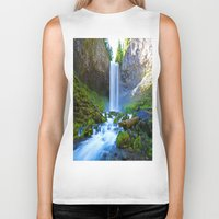 waterfall Biker Tanks featuring Waterfall by 2sweet4words Designs