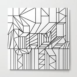 complex apartment geometry Metal Print