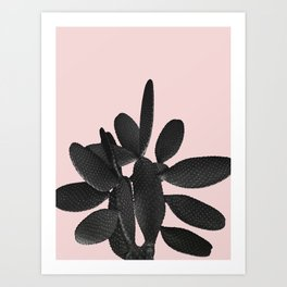Black Blush Cactus #2 #plant #decor #art #society6 Art Print