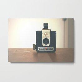 Vintage Hipster camera Metal Print
