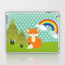 Fox, Rainbow , nursery decor , children gift, birthday gift Laptop & iPad Skin