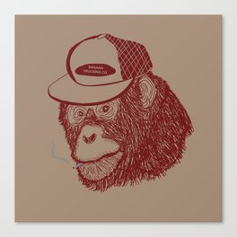 Monkey Trucker Canvas Print