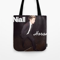 niall horan Tote Bags featuring Niall Horan by Marianna