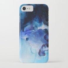 Indigo watercolor iPhone 7 Slim Case