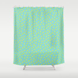 Postmodern Ants in Minty Aqua Shower Curtain