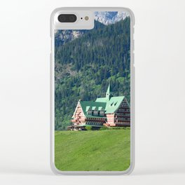 Prince of Wales Hotel in Waterton Lake Park Clear iPhone Case