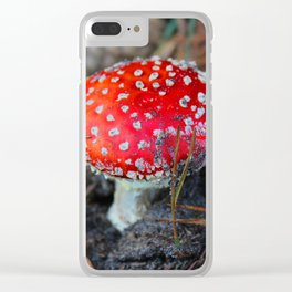 Toxic Beauty Clear iPhone Case