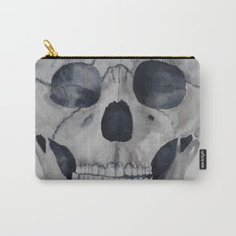 Human skull watercolour Carry-All Pouch