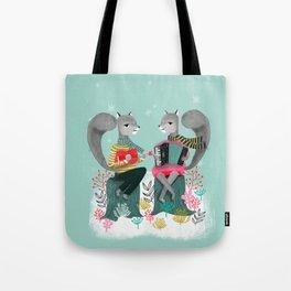Squirrels' Christmas by Andrea Lauren  Tote Bag