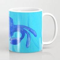 crab Mugs featuring Crab by Lissasdesigns