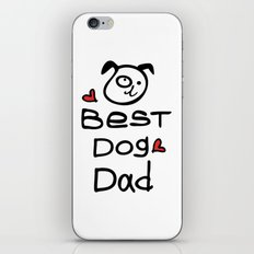 Best dog dad iPhone & iPod Skin