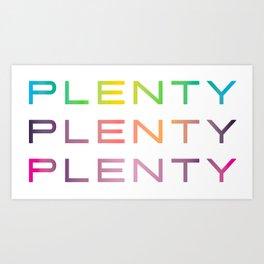 Plenty #lotstolove #plussize #curvey Art Print