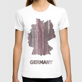Germany map outline Deep Taupe watercolor T-shirt