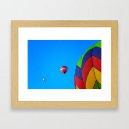 Flying Away hot air balloons Framed Art Print
