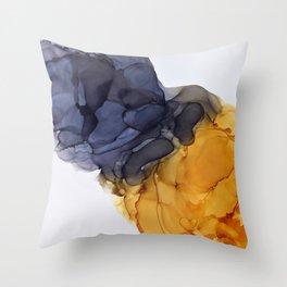 Yellow& Black Smoked Art Throw Pillow
