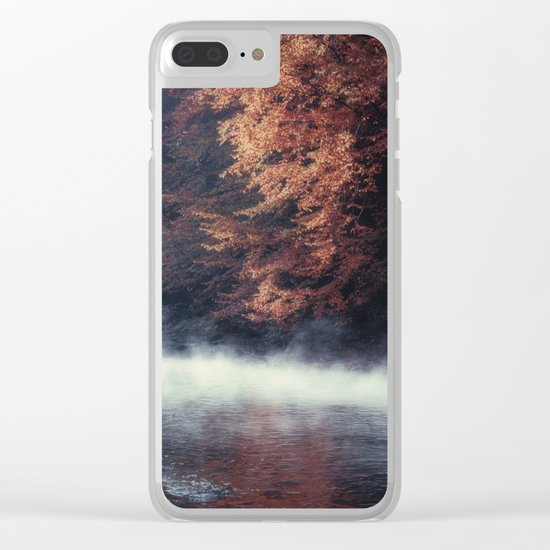 Nature's Mirror - Fall on the River Clear iPhone Case