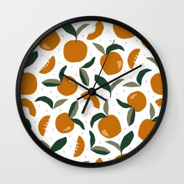 Mid Century Modern Abstract Oranges Wall Clock