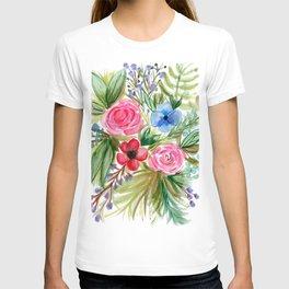 Watercolor Floral Bouquet No. 1 T-shirt