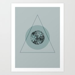 Nature Meets Geometry Art Print