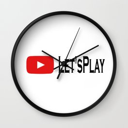 Let's play Youtube inspired Wall Clock