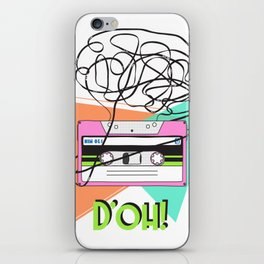 90s and 80s messy meme of cassette tape iPhone Skin