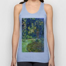 """Claude Monet """"Water lily pond at Giverny"""", 1919 Unisex Tank Top"""