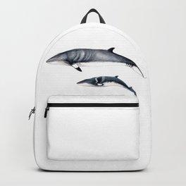 Minke whale with baby whale Backpack