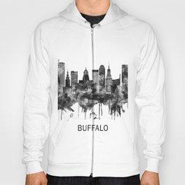 Buffalo New York Skyline BW Hoody