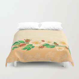 Abstract roses background Duvet Cover
