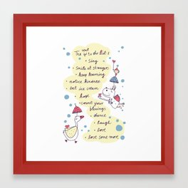 real to do list Framed Art Print