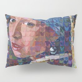 "I ""Heart"" Girl With A Pearl Earring Pillow Sham"