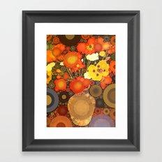 Gramma's Flowers Framed Art Print