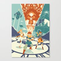 chrono trigger Canvas Prints featuring Chrono Trigger by Joe Byrne