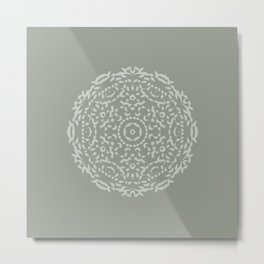 Grey Lace Metal Print