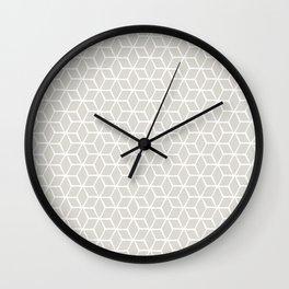 Sketched optical cubs Wall Clock