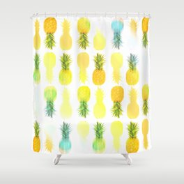 Pineapple Glow Shower Curtain