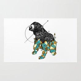 Bear geometric Rug