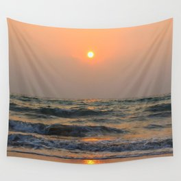 Sunset over the sea. Wall Tapestry