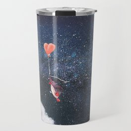 Penguin Lovers and Their New Home in the Stars Travel Mug