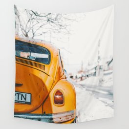 Yellow Taxi (Color) Wall Tapestry