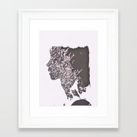 blush Framed Art Prints featuring Blush by Jane Lacey Smith