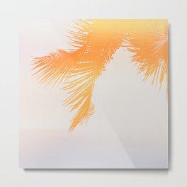 Palm Glow Metal Print